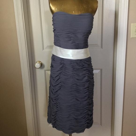Bill Levkoff Ruched Strapless Dress Size